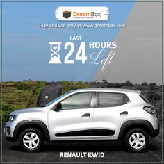 Just last 24 hrs. left for you to grab your Renault Kwid. Hurry.!! Visit www.dreembox.com Register and Play on. #dreembox #win #winner #contest #renault #traveldiaries #bid #auction #bidding #amazing #kwid #dream #crazy
