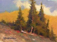 """Skyward by John P. Weiss Oil ~ 5"""" x 7"""""""