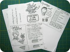 Cute idea...how to make a low tech little instruction book called a Zine!  Share some of your easy knit/crochet patterns, recipes, planting tips...