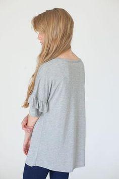 Annalyn Top in Grey