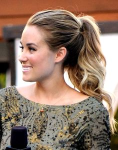 medium pony tail Long hair looks great in a high ponytail for summer or evening.