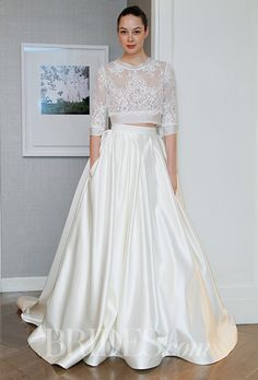 A two-piece @alynebridal wedding dress | Brides.com
