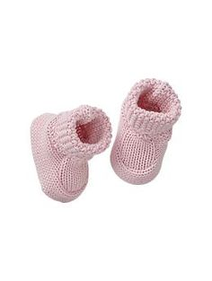 Sweater booties, also available in French vanilla (4-6 pair socks or booties)