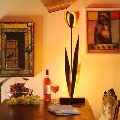 Lampada tulipano gialla