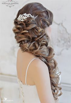 long ombre wavy hairstyle for wedding