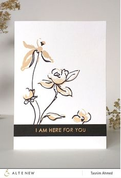 This is a bundle of Golden Garden stamp set and coordinating die set. This stamp set includes beautiful brushstroke floral images. Some of the designs are one-step images and some others are two-step