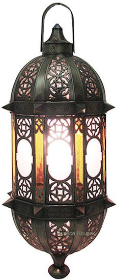 This handcrafted tin chandelier design was influenced by mediterranean style. Lamp is decorated with tin ornaments and handcrafted glass. Hanging Lanterns, Candle Lanterns, Moroccan Lamp, Moroccan Style, Star Lamp, Ceiling Lamp, Glass Panels, Chandelier Lighting, Rustic Decor