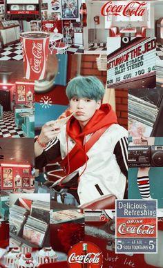 Plot twist all of BTS mvs are Coca Cola commercials Bts Suga, Min Yoongi Bts, Bts Bangtan Boy, Bts Boys, Daegu, Wallpapper Iphone, Kpop, Min Yoongi Wallpaper, Iida