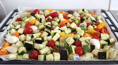 Légumes d'été avant cuisson au four