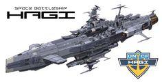 EDF Space Battleship Hagi (Space Battleship Yamato / Starblazers universe)