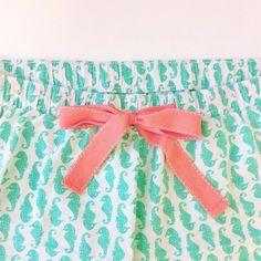 Seahorse pajama shorts!!! So cute