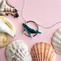 Overlayed Humpback Whale Necklace on Etsy |  #Humpbackwhale #whale #etsy #handmade #necklace #fashion #accessory #whales