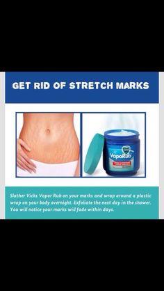 Skin Care - Help get rid of stretch marks with Vapor Rub. Diy Beauty Hacks, Beauty Hacks For Teens, Beauty Ideas, Beauty Care, Beauty Skin, Face Beauty, Beauty Makeup, Body Hacks, Tips Belleza