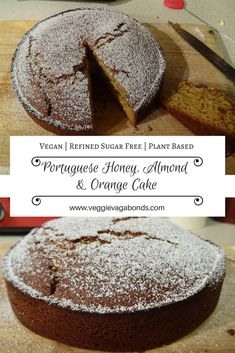 This vegan Portuguese honey, almond and orange cake is zesty, delicious and bursting with flavour. The recipe is based on a Portuguese classic that has been popular for generations and with good reason. Using no refined sugars this cake instead uses agave nectar and fresh oranges for sweetness giving it a sharp, authentic taste. The result is a truly sublime vegan twist on an amazingly traditional Portuguese cake.