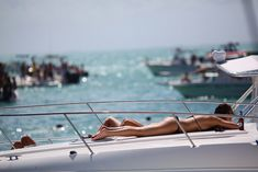faves: boating, sunbathing, day drinking