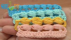Puff Stitch Worked Around Post How to Tutorial 38 Different Ways  http://sheruknitting.com/videos-about-knitting/crochet-for-beginners/item/219-crochet-puff-stitch-around-post-for-beginners.html  In this tutorial you will see how to work a puff stitch around the post of previous stitch. We made a puff stitch around the double post. For this work a double crochet and right after the double crochet stitch repeat 3 times: yarn over and pull a loop from around the post.