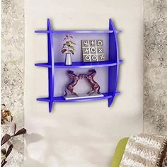 Onlineshoppee Beautiful 3 Tier MDF Wall Shelves/Rack Size LxBxH-20x4x19 Inch - Blue -- Click image to review more details. (This is an affiliate link) #FloatingShelves