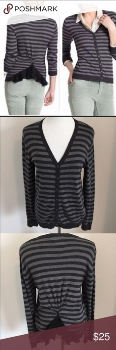 Tabitha Anthropologie Striped Sweater Size L Super cute Button Down Cardigan by Tabitha. Size large. Very good condition! Anthropologie Sweaters Cardigans