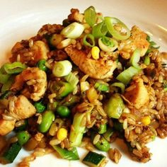 Food: Eleven Healthy Brown Rice Recipes  (via Brown Fried Rice with Chicken and Vegetables Recipe via The Lemon Bowl).