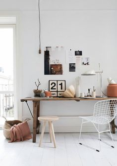 whitewashed working space / sfgirlbybay