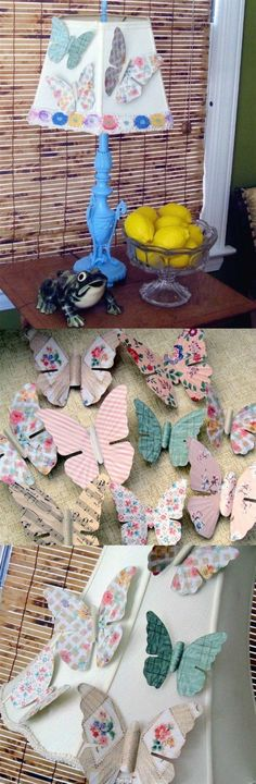 Turn antique metal butterflies into pretty magnets with wallpaper and Mod Podge. This is the perfect budget decoupage craft and makes a great gift!