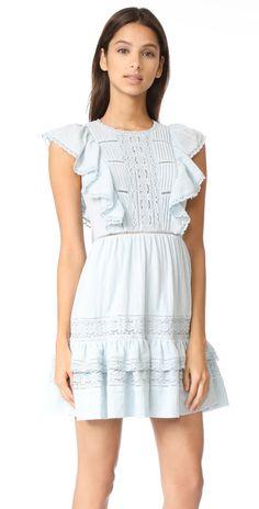 Rebecca Taylor Gauze Dress with Lace   SHOPBOP