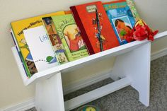Kids Book Rack - Woodworking Plans - Instant Download