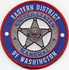 UNITED STATES MARSHAL EASTERN DISTRICT OF WASHINGTON POLICE PATCH