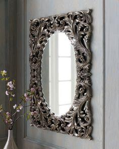 Silver Baroque Mirror - Horchow