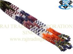 Multi Faceted Roundel (Quality A) (Green & Pink Tourmaline Crystal Garnet Iolite Carnelian Peridot) Shape: Roundel Faceted Length: 38 cm Weight Approx: 12 to 14 Grms. Size Approx: 4.5 to 5 mm Price $14.40 Each Strand