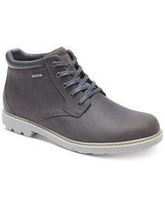 uk availability e3e8a ccd56 Rockport Men s Rugged Bucs H20 Waterproof Plain Toe Boots Hombres Robustos, Botas  De Agua,