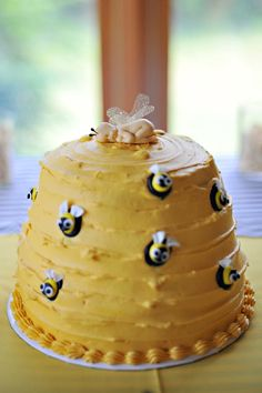 bee themed baby shower - would be cute to add some birds! The Birds & the Bees! ;)