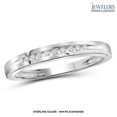 1/10ctw Genuine Diamond Eternal Love Band in Sterling Silver - Assorted Styles at 89% Savings off Retail!