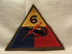 "WW2 WWII US Army 6th Armored Patch ""Super Sixth"" Bastogne | eBay"