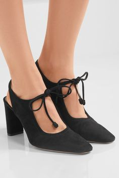best authentic 1295c 4096a THE ROW Camil cutout suede pumps  850.0