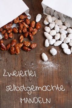 HerzStück: Zweierlei selbstgemachte Mandeln Sweets were fed to the gods in ancient Mesopotamia and ancient Fudge Caramel, Comida Diy, Rigatoni, Veggie Dishes, Food Items, Diy Food, Cherry Tomatoes, Nutella, Pesto