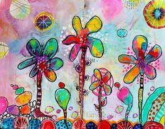 Art Journal 2016 - Thème 5 - Un arc-en-ciel de fleurs