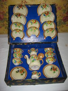 Vintage Toy Dish set.   Learn about your collectibles, antiques, valuables, and vintage items from licensed appraisers, auctioneers, and experts.   http://www.bluevaultsecure.com/roadshow-events.php