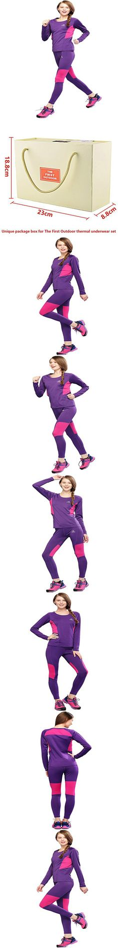 The First Outdoor Women's Athletic Thermal Underwear Set Small Violet