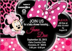 Bebé Minnie Baby ducha invitación por TrinityHopeDesigns en Etsy
