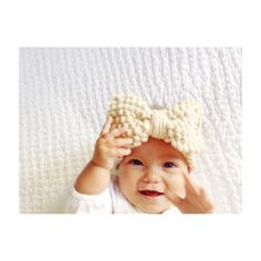 Chunky knit baby bow headband   Etsy shop https://www.etsy.com/listing/261390982/knitted-head-band-for-baby-girl-with-big