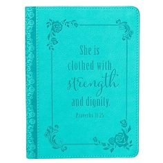 Strength & Dignity Journal, LuxLeather, Blue