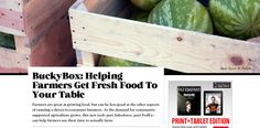 FastCoExist features Bucky Box : Local Food Distribution Software startup