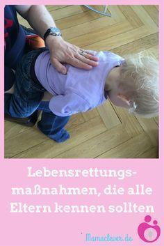 Beatmen & Heimlich-Handgriff: So rettest Du ein Kind - Kids - Bebe Baby Health, Kids Health, Children Health, Baby Co, Baby Kids, Nursing Tips, Child Life, Happy Baby, Baby Hacks
