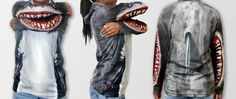 Holiday Gifts Eco Shark Shirt by MouthMan. #Green Gift Ideas.