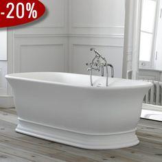 Marlow Badekar, Mat Hvid - Badekaret måler 1.740 x 760 mm | Bredt udvalg af badekar kan købes billigt online hos VillaHus.com