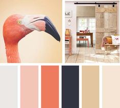 Color naranja flamingo Interior Design Color Schemes, Living Room Redo, Mood And Tone, Color Balance, Color Swatches, Nordic Style, Trendy Colors, Color Pallets, Color Themes