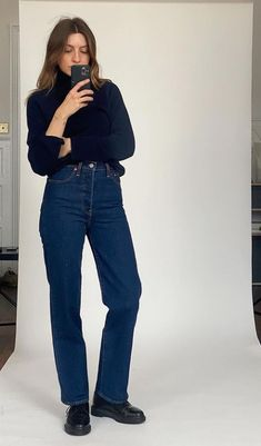 Cardigan Outfits, Denim Outfit, Fall Winter Outfits, Autumn Winter Fashion, Brittany Bathgate, Trendy Outfits, Cool Outfits, Denim Fashion, Fashion Outfits