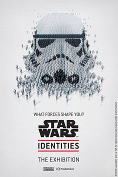 "Star Wars™ Identities Posters by Bleublancrouge    Awesome posters designed by Bleublancrouge for the upcoming ""Star Wars™ Identities"" Exhibition.    ""The STAR WARS™ Identities exhibition will shed new light on the unforgettable Star Wars™ characters by exploring the theme of identity or 'the forces that shape you.'    In fact, the illustrations were inspired by the individuality of each character, by what makes them who they are.""    Bleublancrouge is a creative agency from Canada."