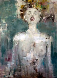 """Wavelenght"" - Oil on canvas - 100cm x 70cm - Benjamin García"